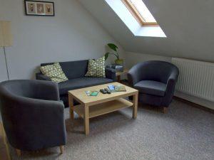 Wohnzimmer der Fewo auf dem Bauernhof Lange in Lieschow auf Rügen