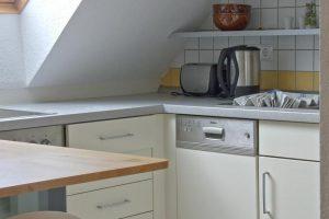 Küche der Ferienwohnung von Bauer Lange in Lieschow bei Ummanz auf Rügen