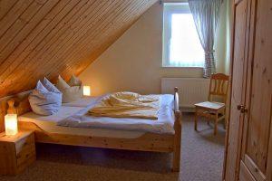 Schlafbereich in der Unterkunft von Bauer Lange in Lieschow bei Ummanz auf Rügen