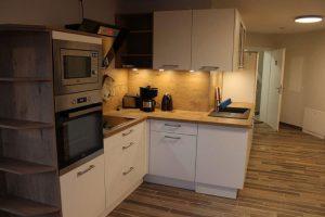 Küche in der größten Ferienwohnung von Bauer Lange im Westen der Insel Rügen