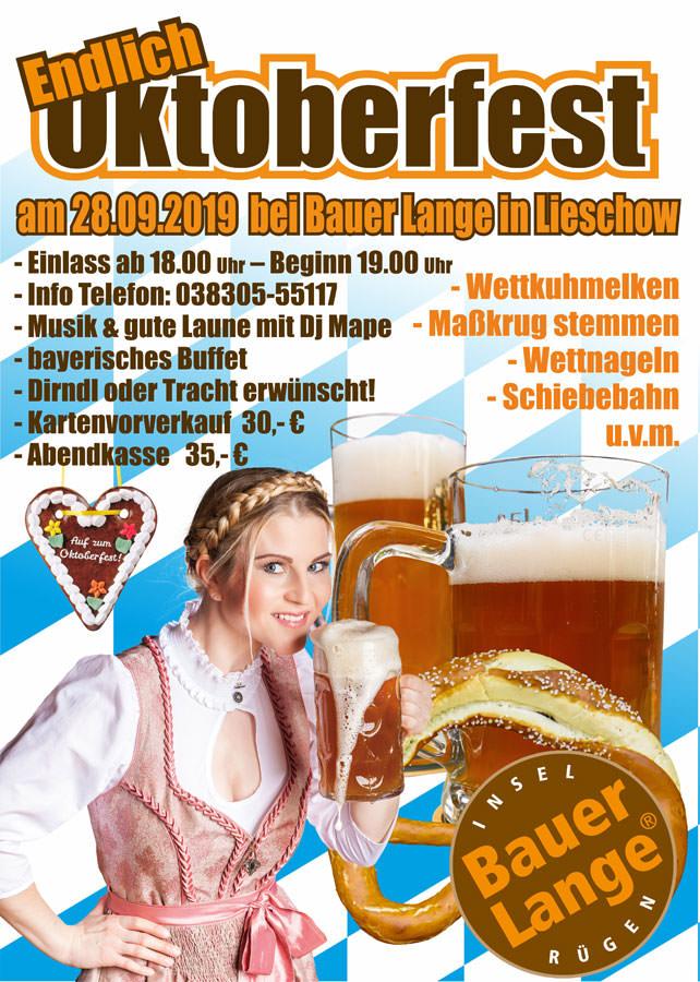 Oktoberfest bei Bauer Lange in Lieschow auf Rügen